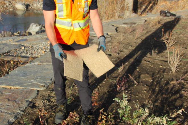 TerraFibre® Hemp Mulch Mats 500gsm (Biodegradable) image 1