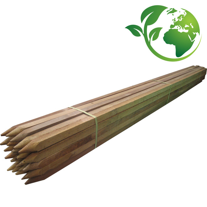 Hardwood Wooden Stakes 500-1500mm length image 0