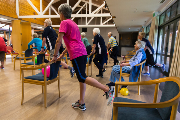 Retirement village health & fitness