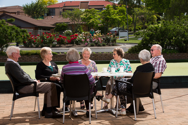 Social Gathering At Alandale Retirement Village