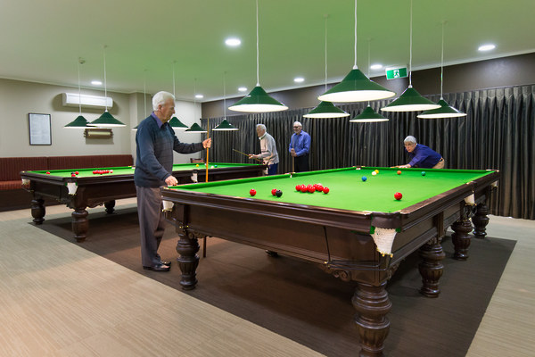 retirement villages tauranga billiard hall