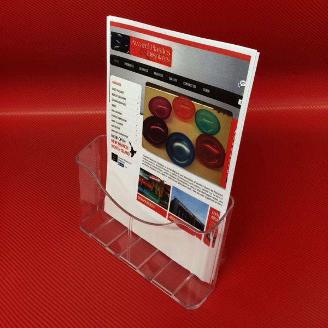 A4 Single Pocket Brochure Holder image 1
