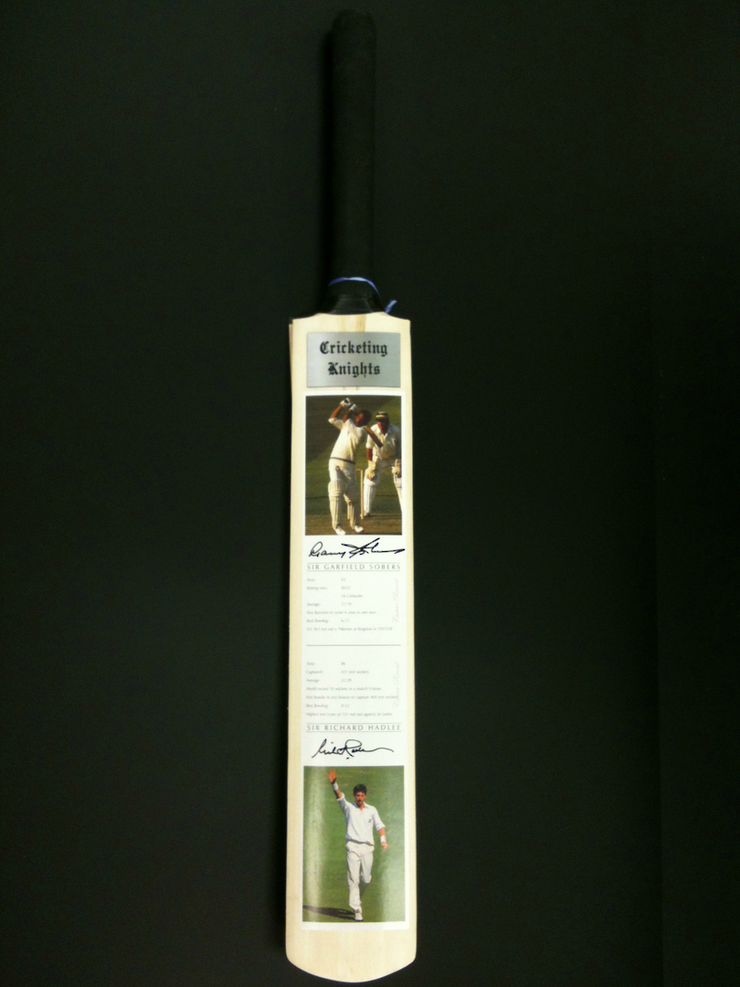 Cricketing Knights - Signed Cricket Bat image 4