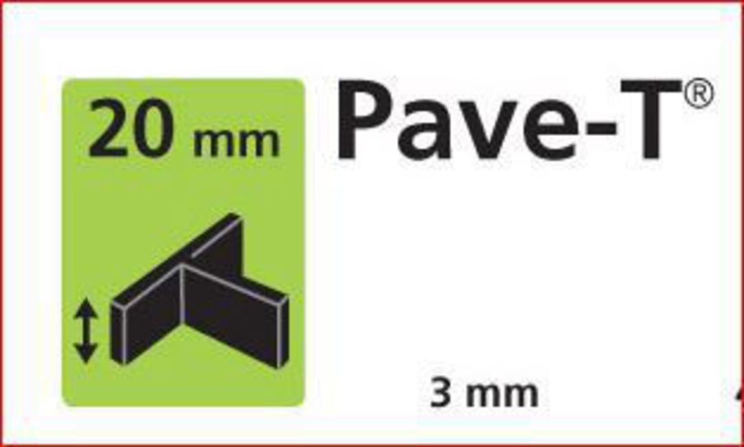 Paver spacer T shape 20mm x3mm thick image 0