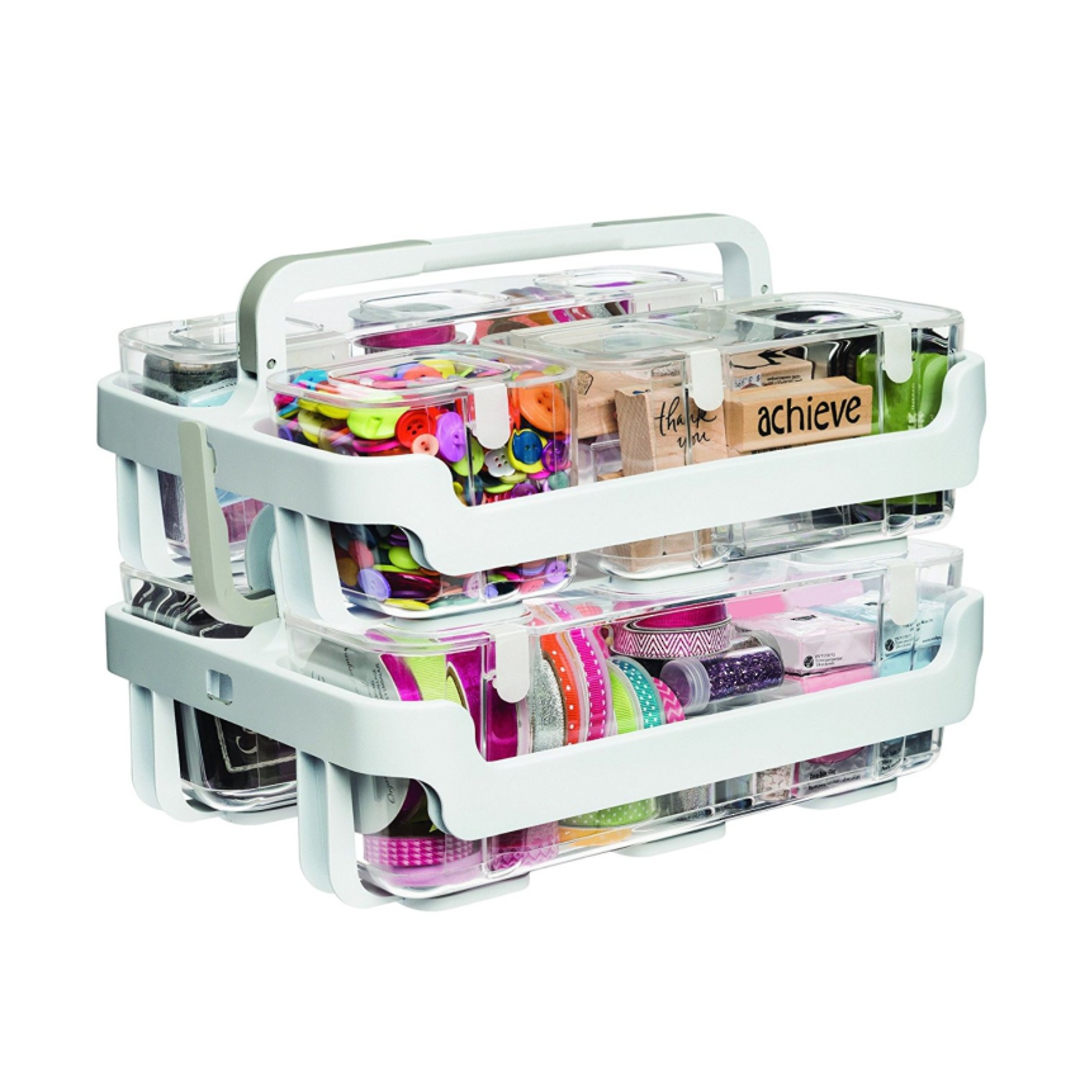 Stackable Caddy Organiser with 3 Containers image 2
