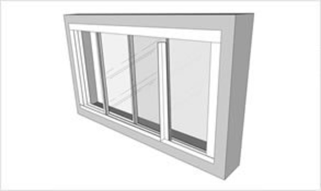 TrackGlaze White DIY Double Glazing 1.0m Kit image 0