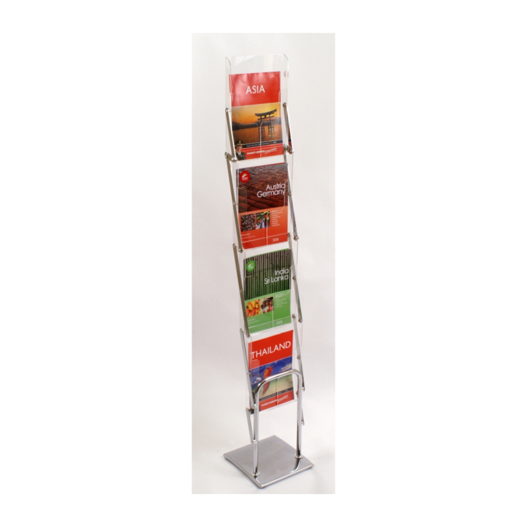Literature Display Rack, Metal & Acrylic, Collapsible A4 x 4 image 0