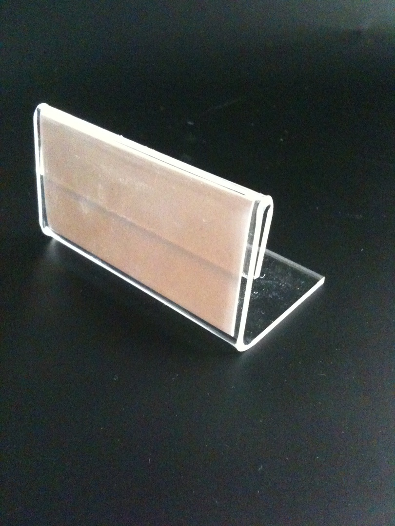 (LS8245) Name card holder, 82mm x 45mm, landscape, with card Insert image 0