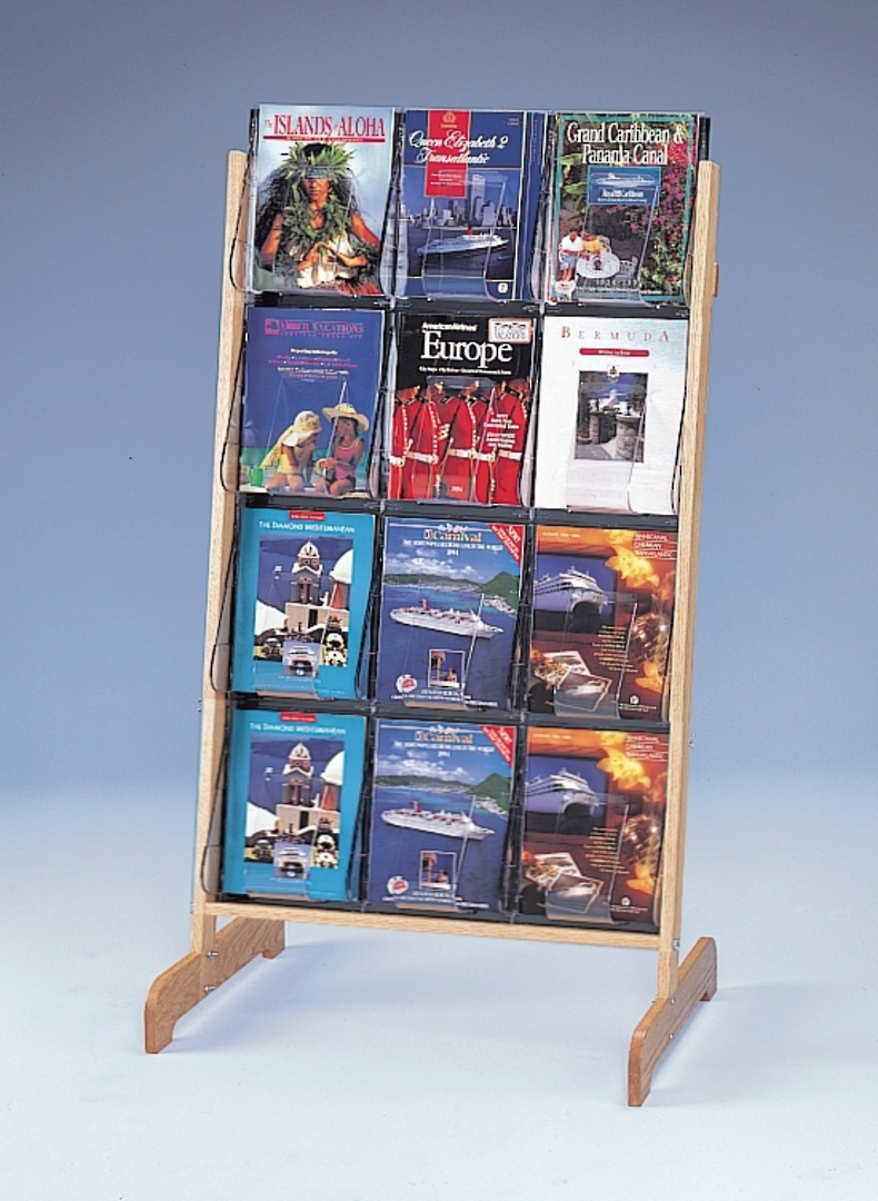 """(58541) """"Stand-Tall"""" Literature Rack, 12 x A4, Easel image 0"""