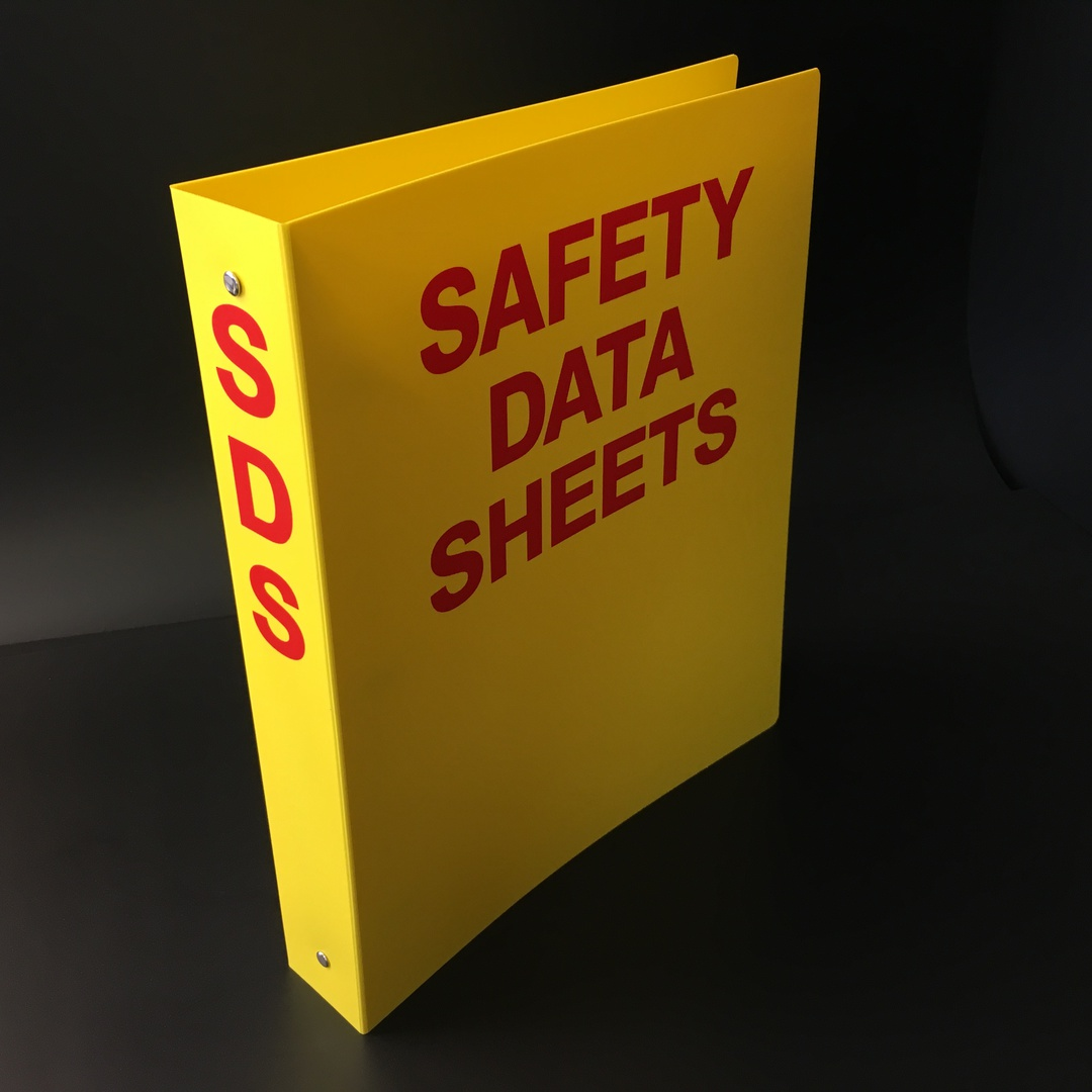 Yellow A4 Ringbinder for SDS Sheets image 0