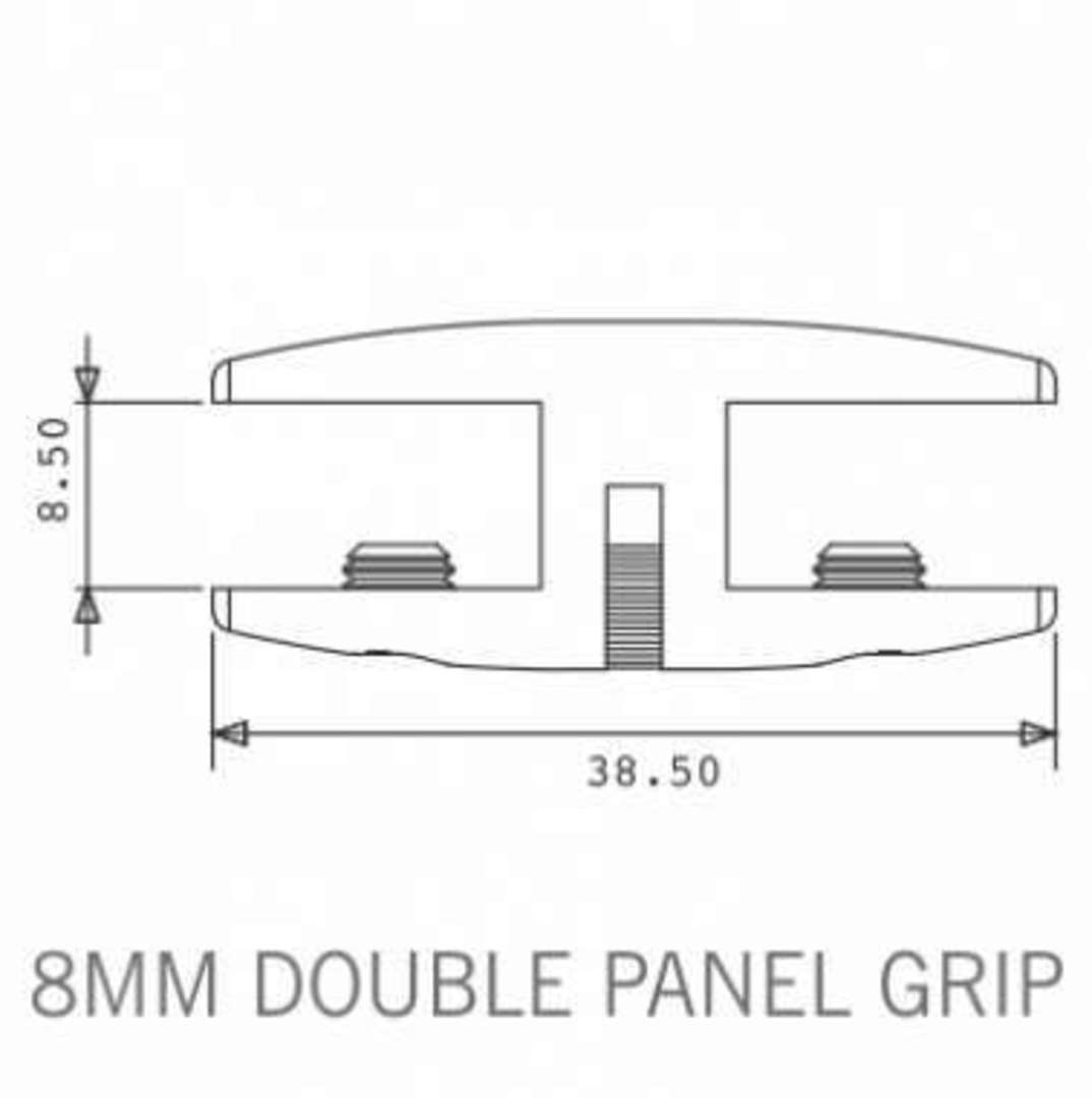 Axis Double Panel Grip 8mm image 1