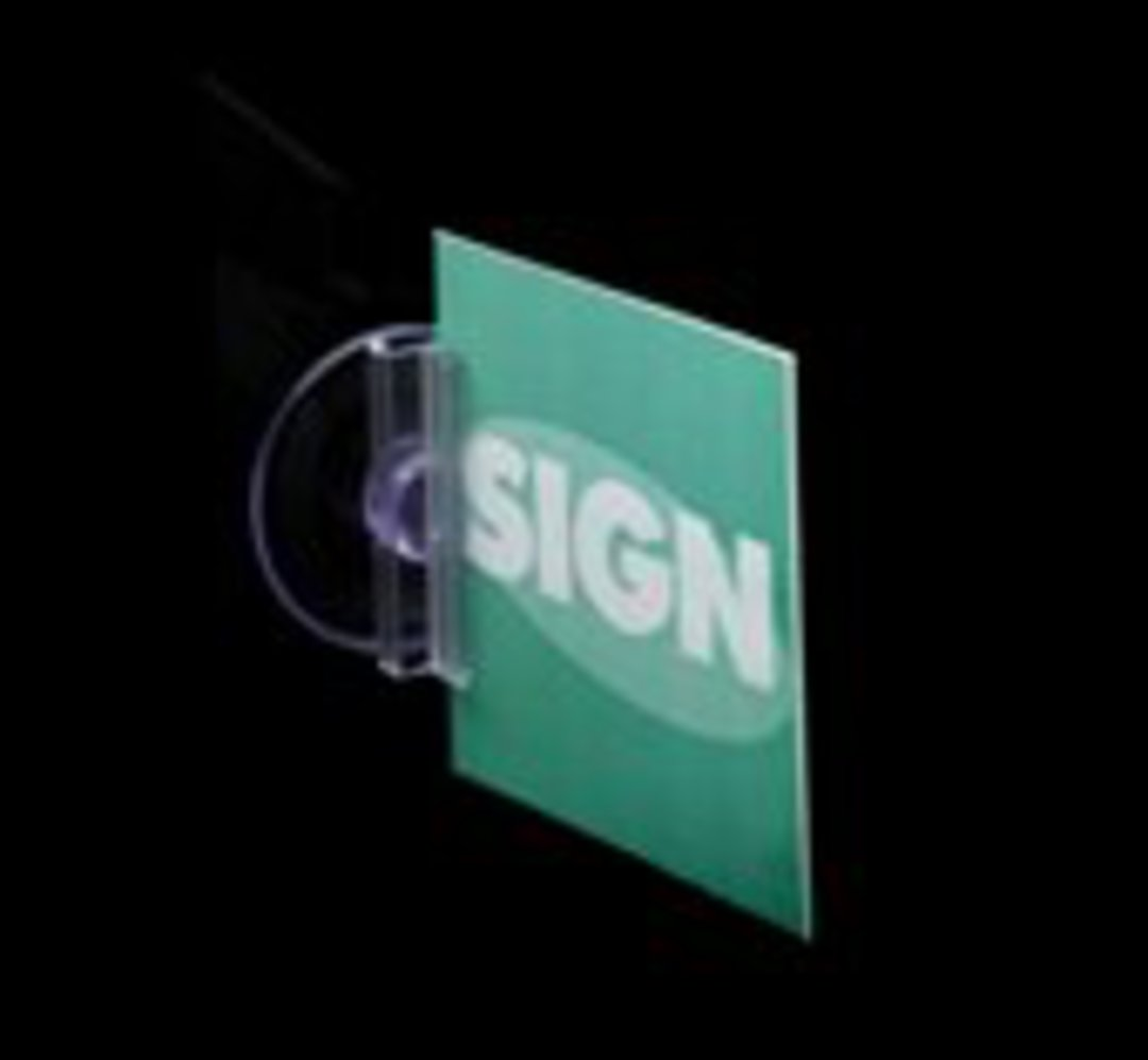Suction Cup Sign Holder Perpendicular to Surface image 0