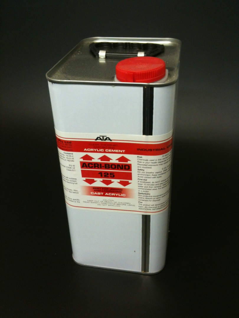 125 Acribond 4.0L Tin Solvent Adhesive image 0