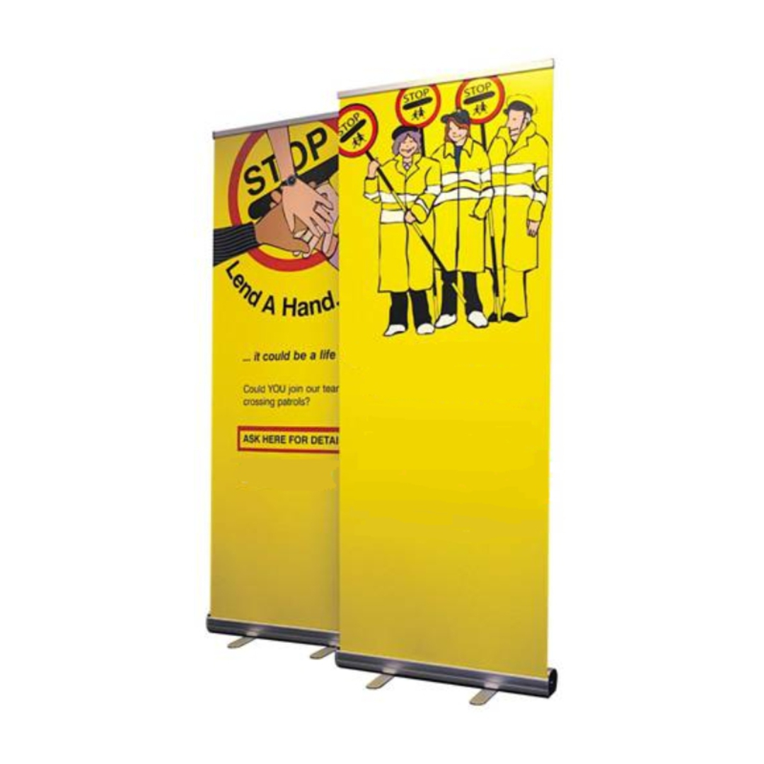 Roll Up Banner Stand, Adjustable Height, 850 x 2000mm image 0