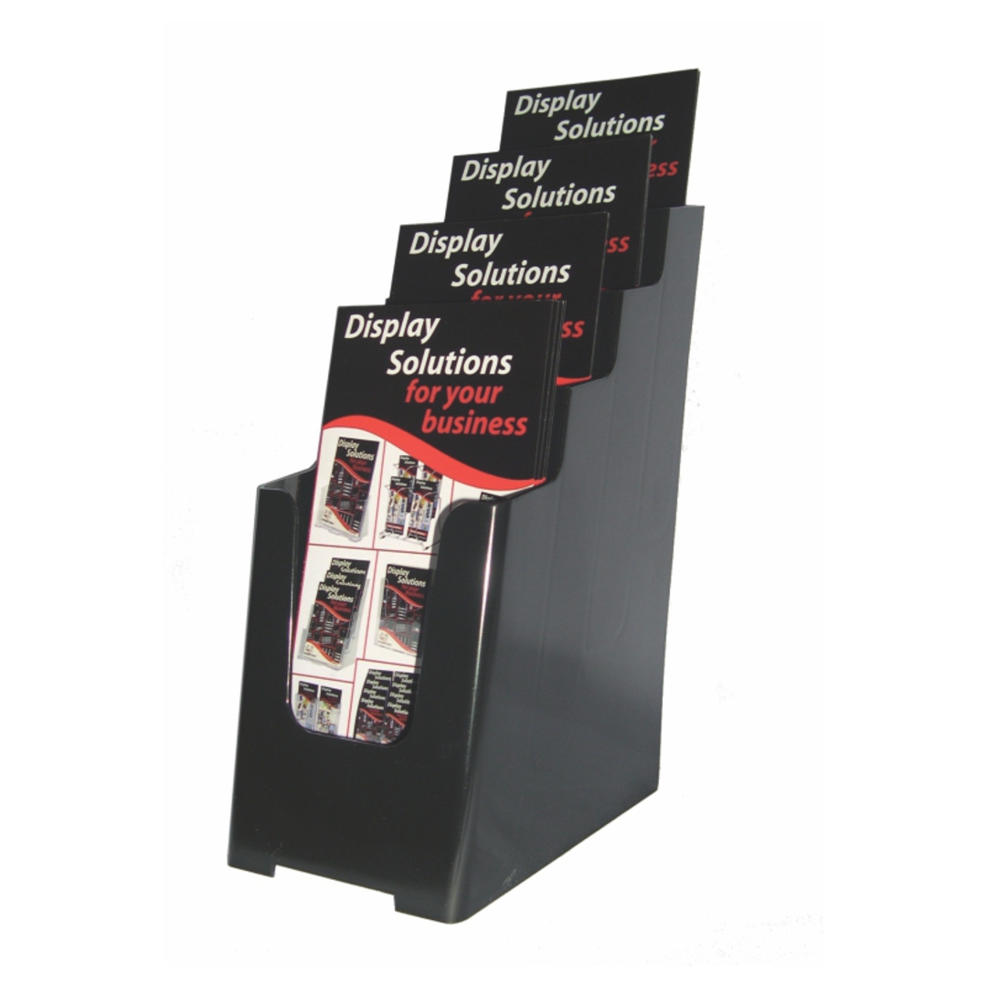 DLE 4-Tier Black Recycled Desk/WallMount image 0