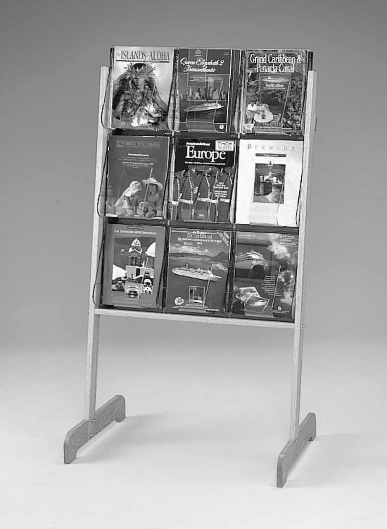 "(58531) ""Stand-Tall"" Literature Rack, 9 x A4, Easel image 0"