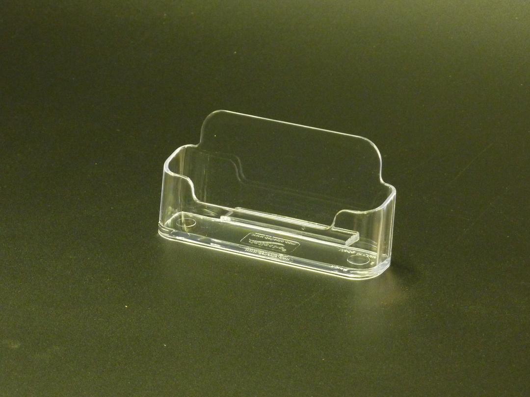Business Card Holder Single Pocket Desk image 0