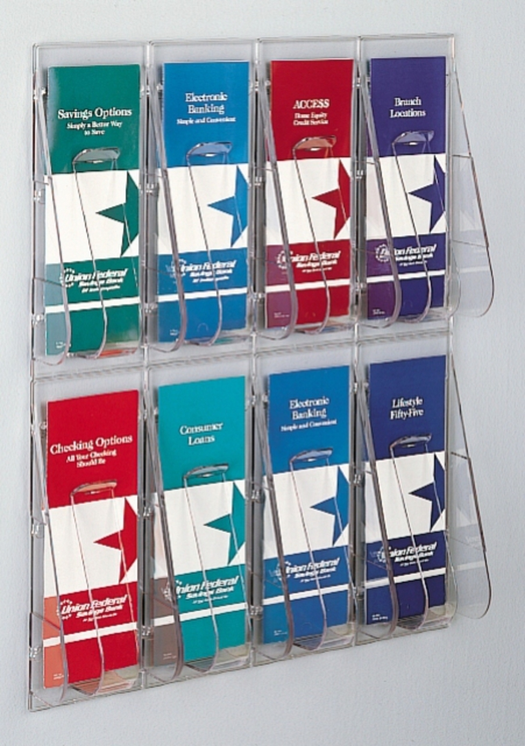 "(56201) ""Stand-Tall"" Literature Rack,  8 x DLE Wall Rack image 0"