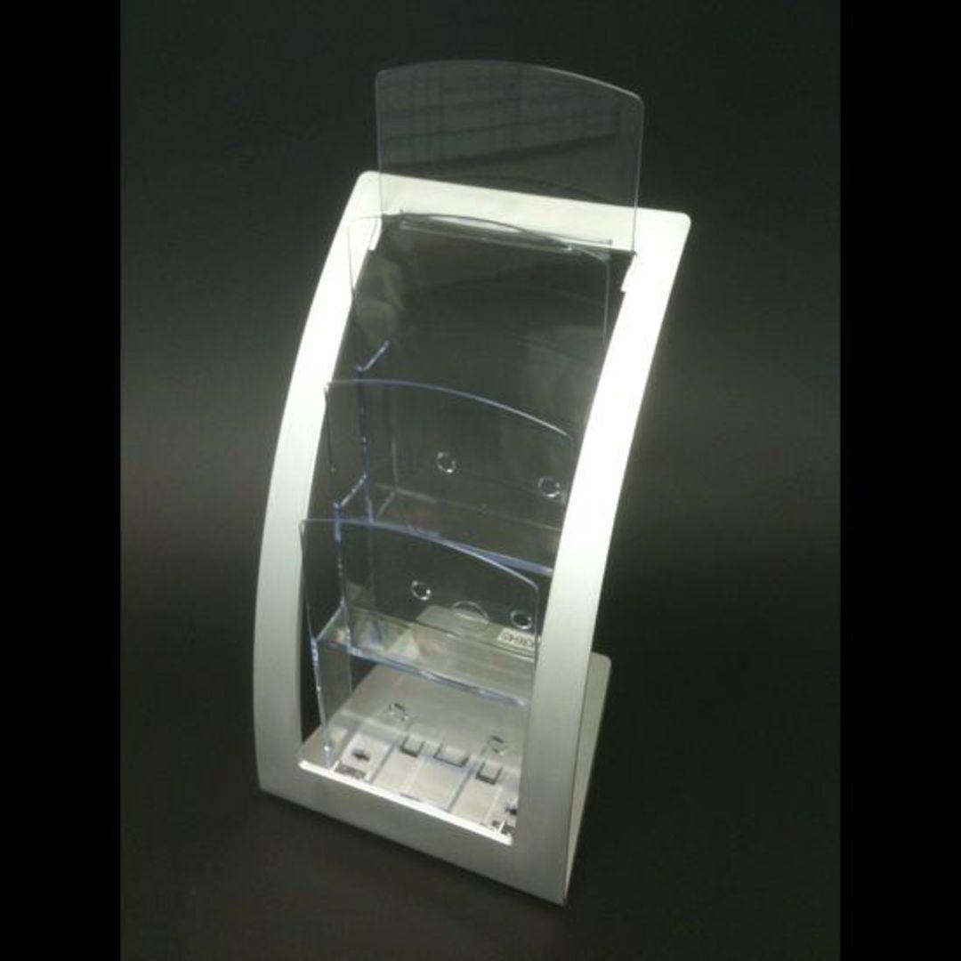 DLE 3-Tier Silver Frame Desk Brochure image 0