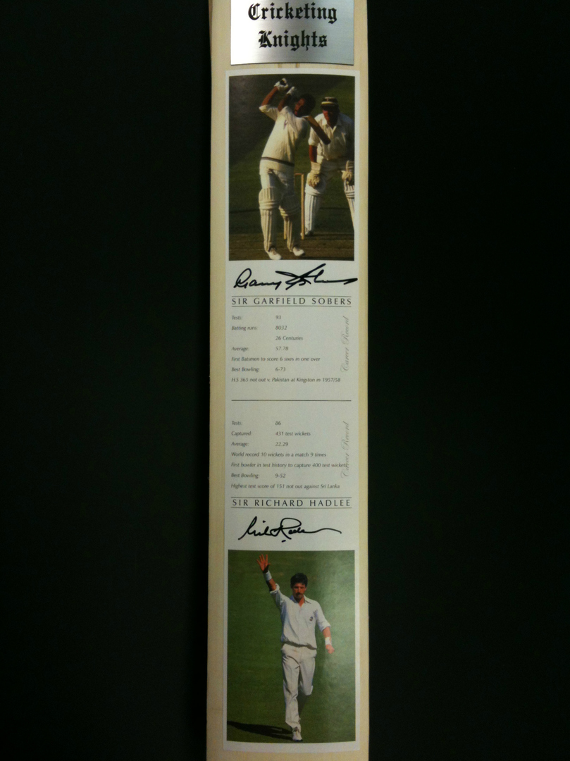 Cricketing Knights - Signed Cricket Bat image 1