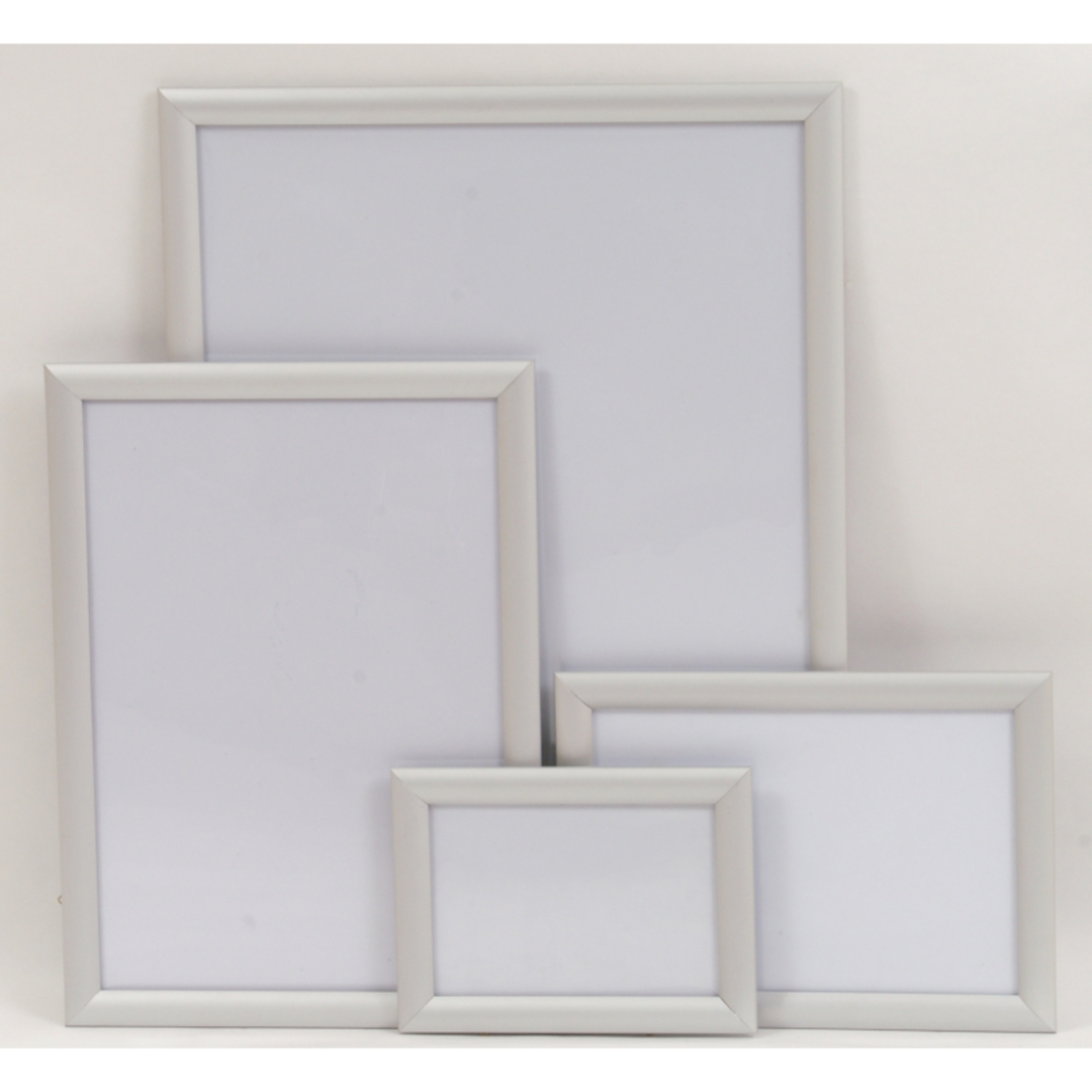 A1 Silver Square 25mm Snap Frame image 0
