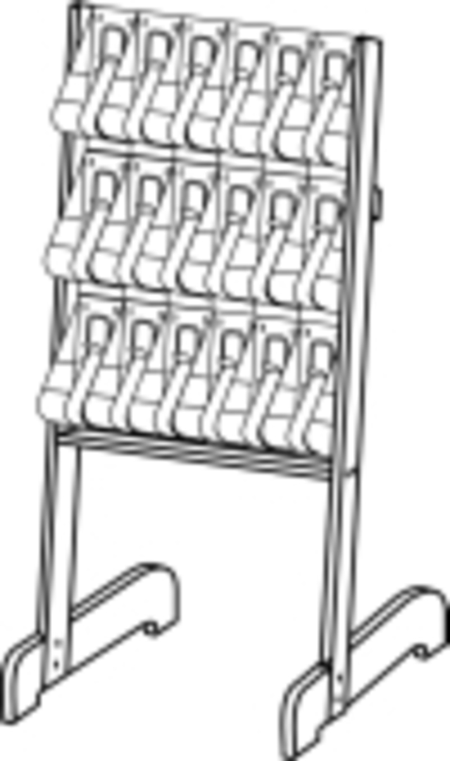 Stand-Tall Literature Rack 18x DLE Easel image 0