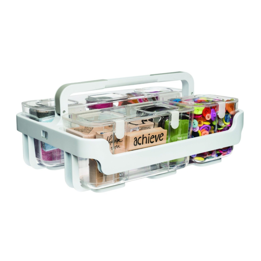 Stackable Caddy Organiser with 3 Containers image 0