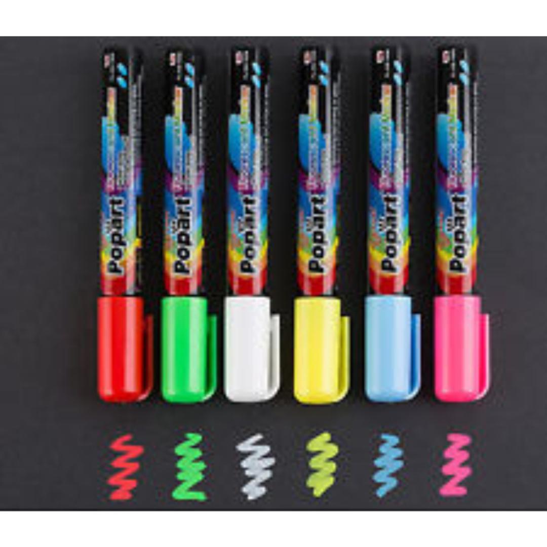 LED Writing Board Pens (6pk) image 0