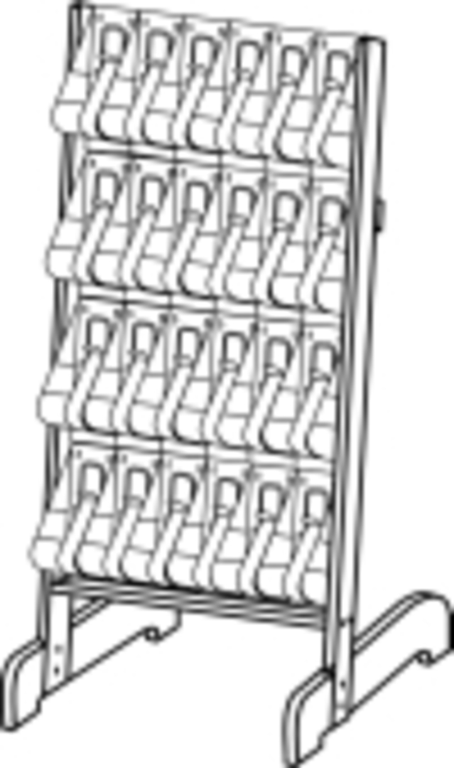 "(58641) ""Stand-Tall"" Literature Rack, 24 x DLE, Easel image 0"