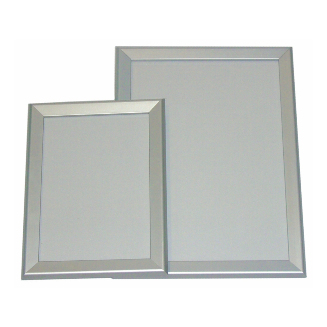 A4 Silver Square 30mm Wide Snap Frame image 0