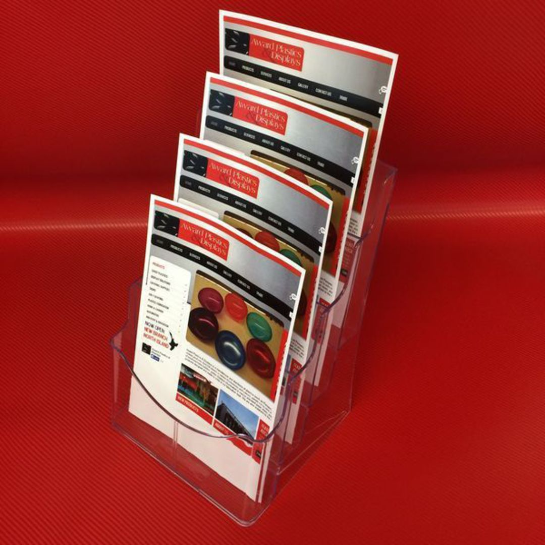 A4 4-Tier Brochure Holder image 1