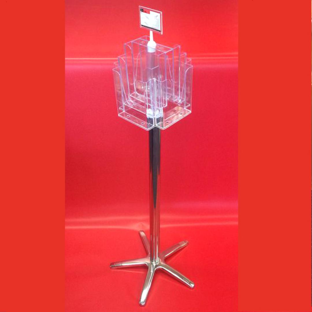 A5x8 Floor Stand Revolving Brochure Holder no castors image 0