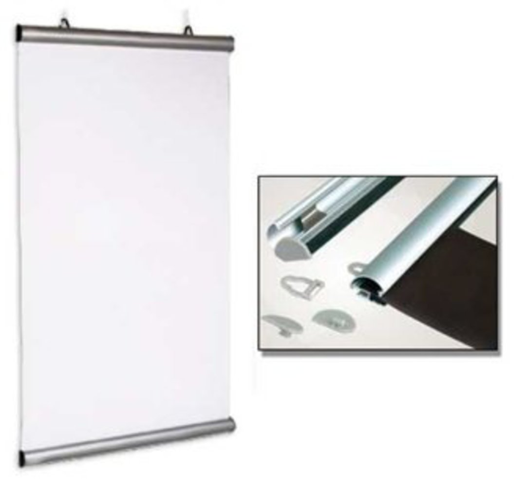 (84850) Aluminium Snap Rail Poster Hanging Kit, 850mm image 0