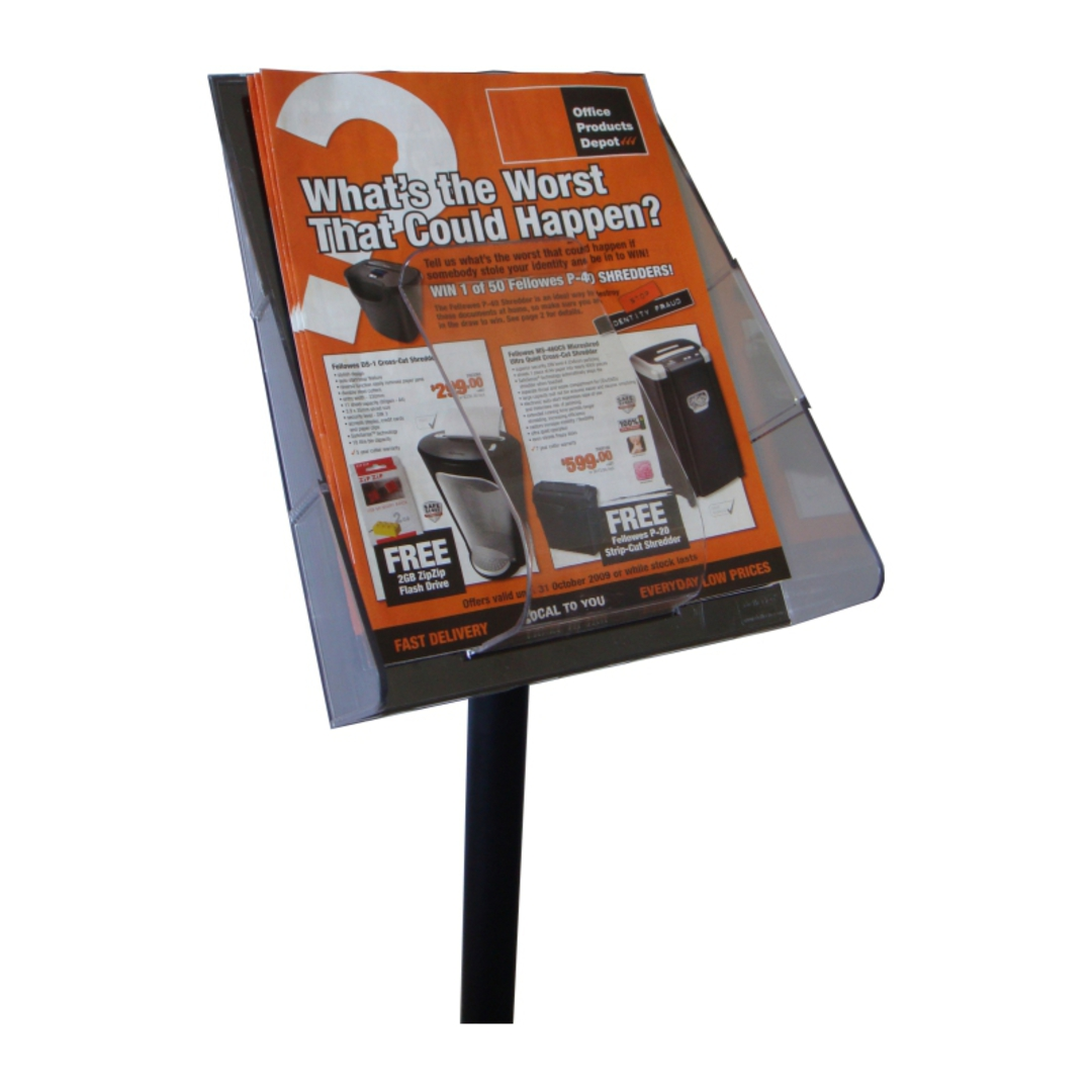 Stand Tall A4 Brochure Holder with Pole & Base image 1