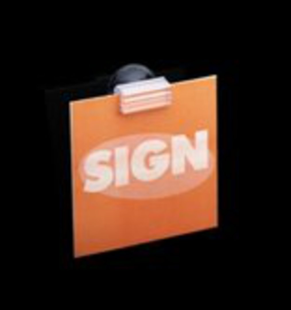 Suction Cup Sign Holder Flush with Surface image 0