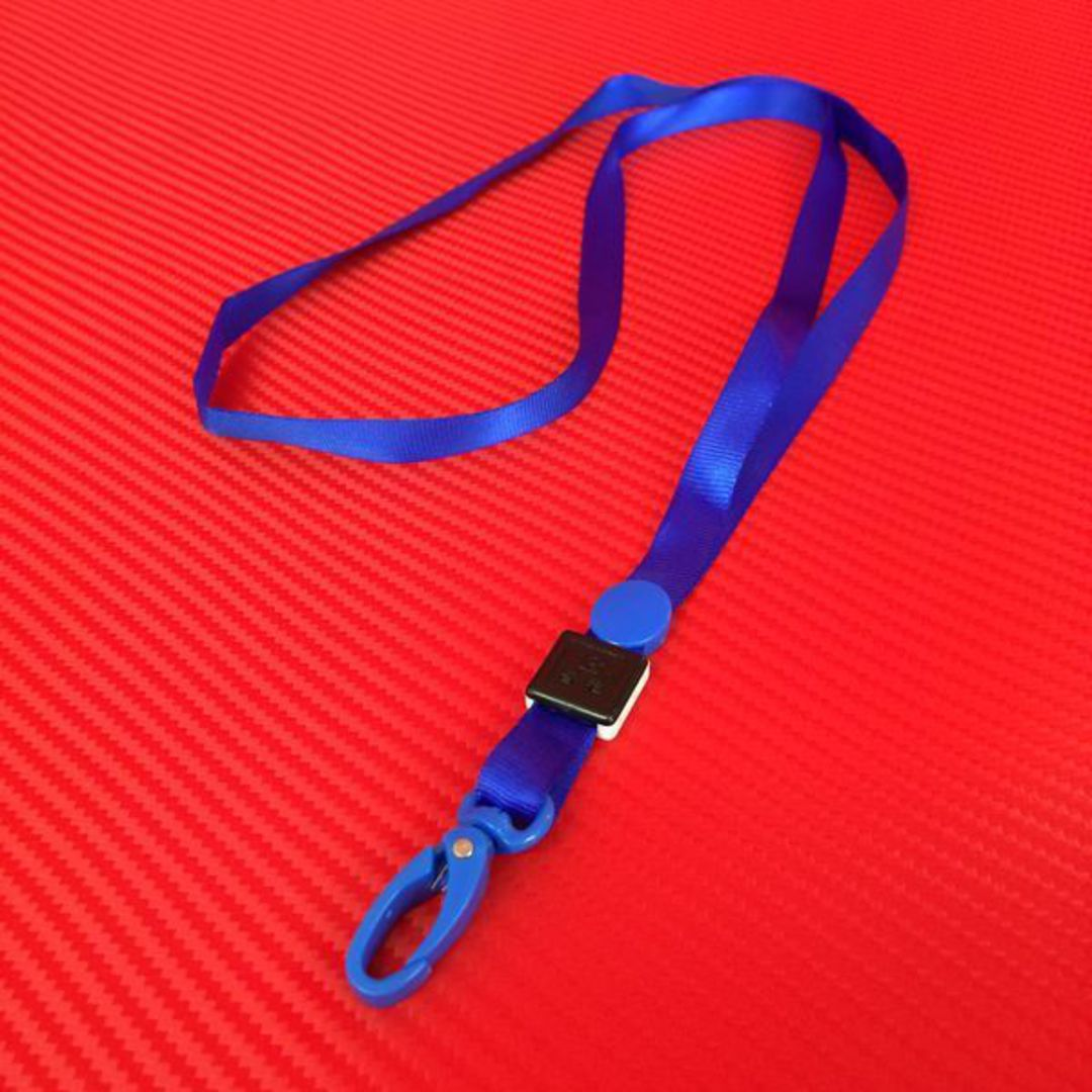 10mm Blue Lanyard with Clip (for 5204) image 0