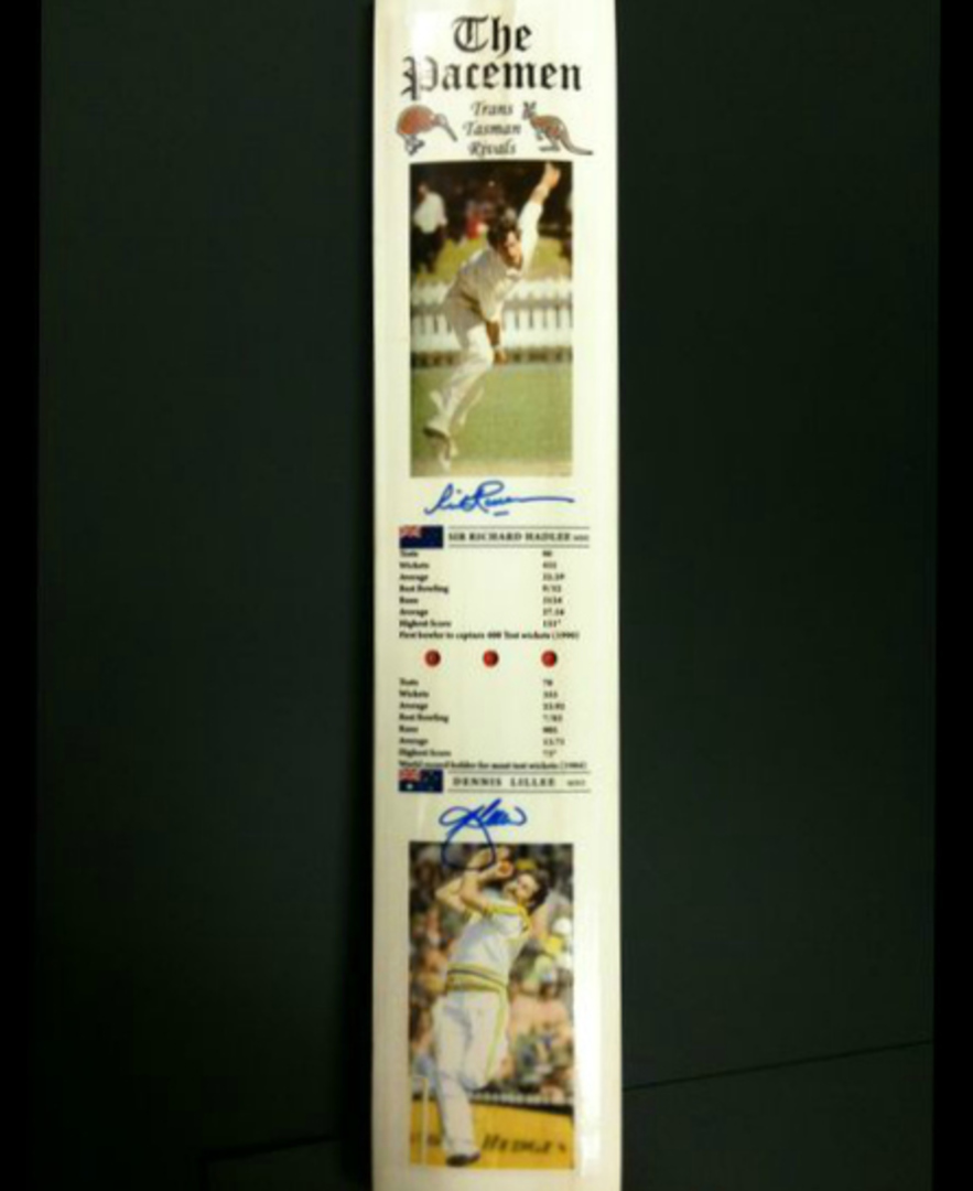 The Pacemen - Signed Cricket Bat image 1