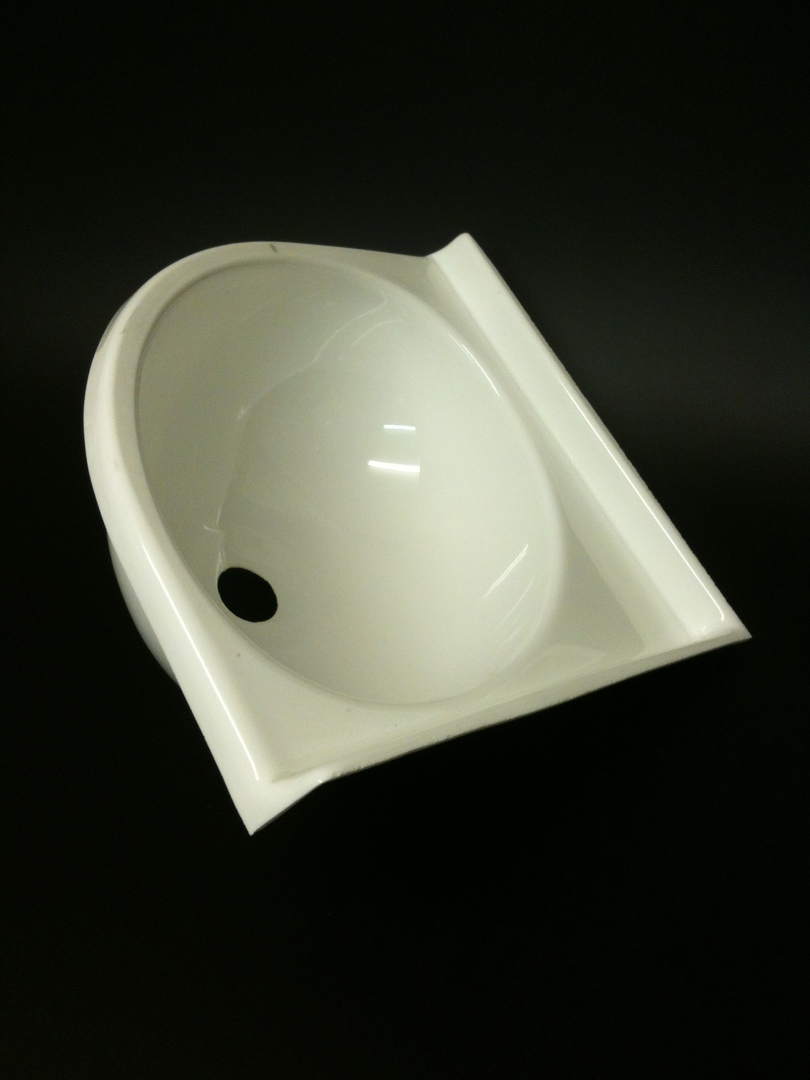 Caravan Small Corner Sink White Acrylic image 0