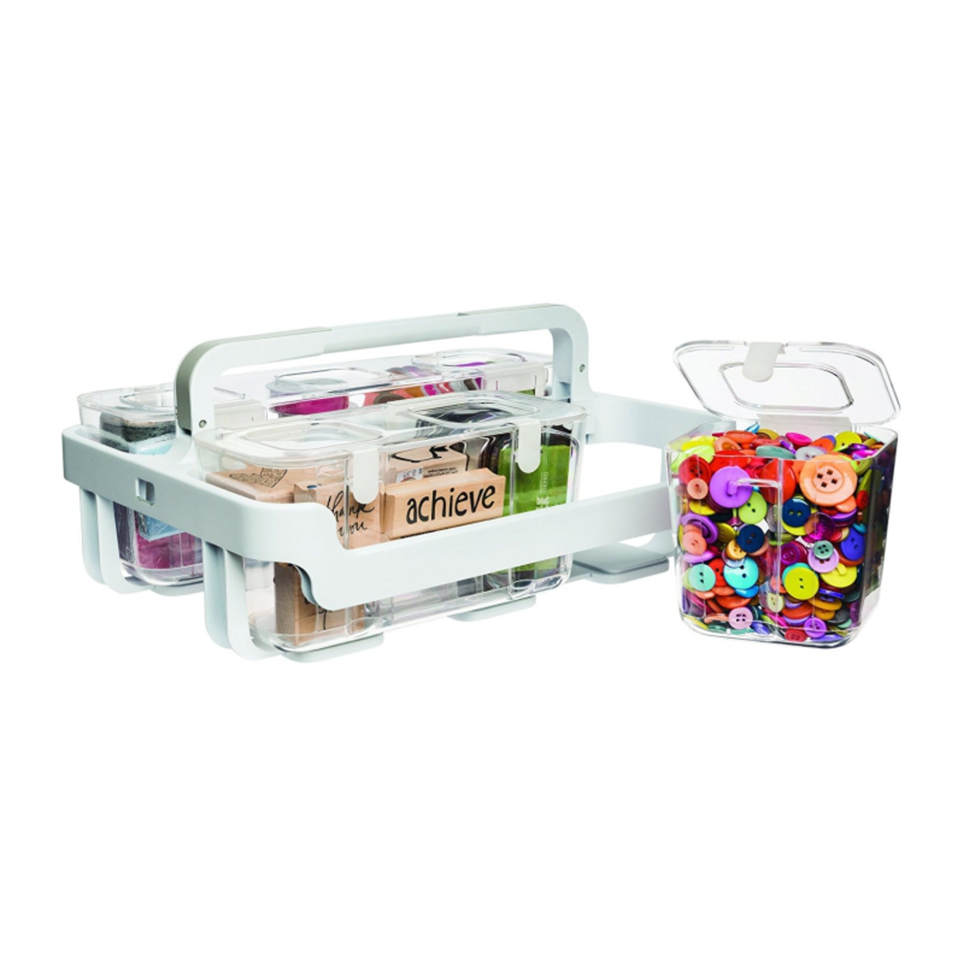 Stackable Caddy Organiser with 3 Containers image 1