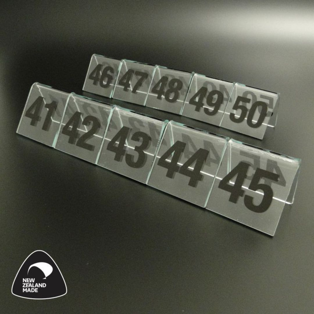 Clear Table Numbers 41-50 image 0