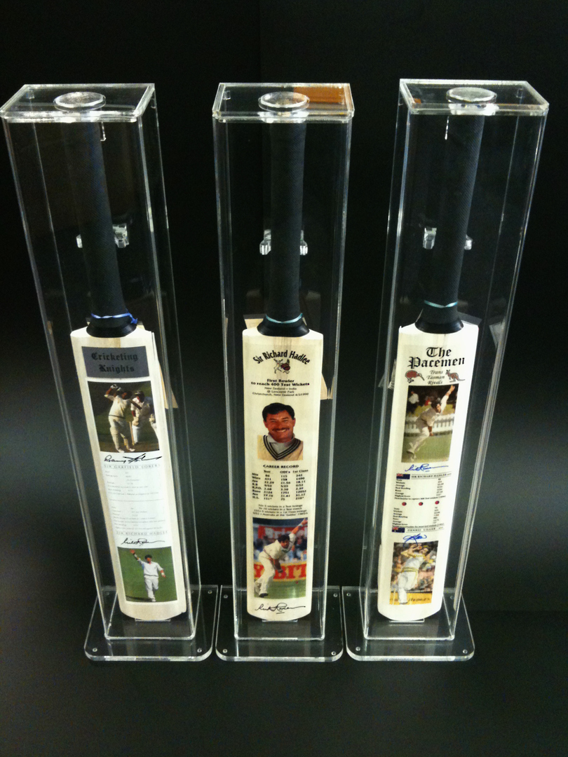 Sir Richard Hadlee - Signed 3x Cricket Bat Set image 0