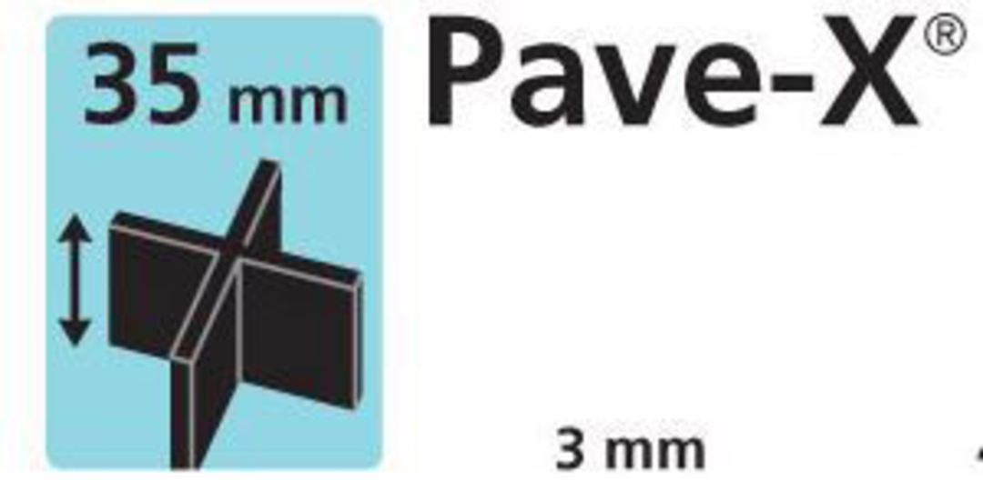 Paver spacer X shape 35mm x3mm thick image 0