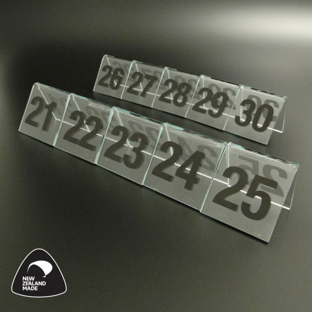 Clear Table Numbers 21-30 image 0