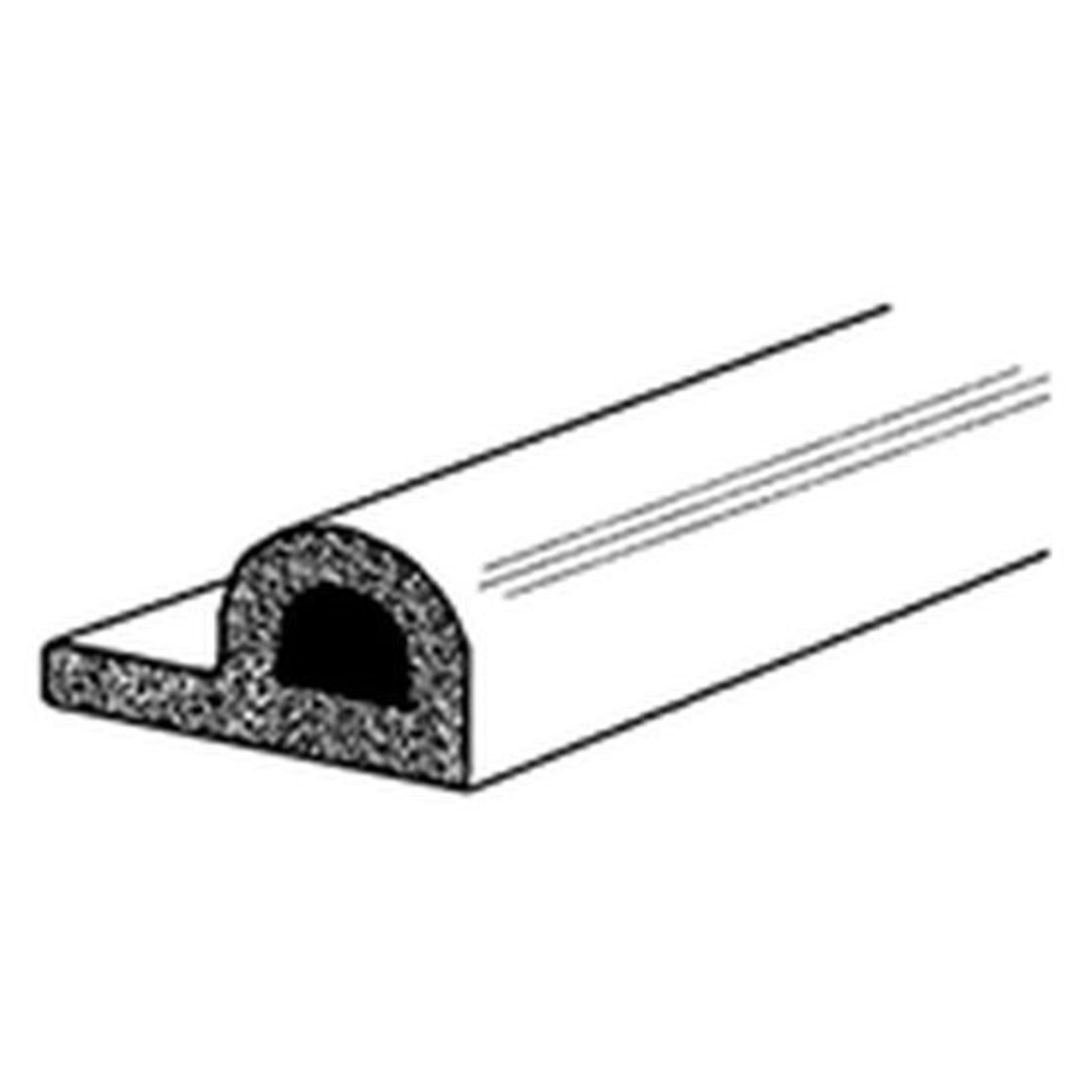 (DGDE911) EPDM P Strip Black Draught Excluder 5m Roll image 0