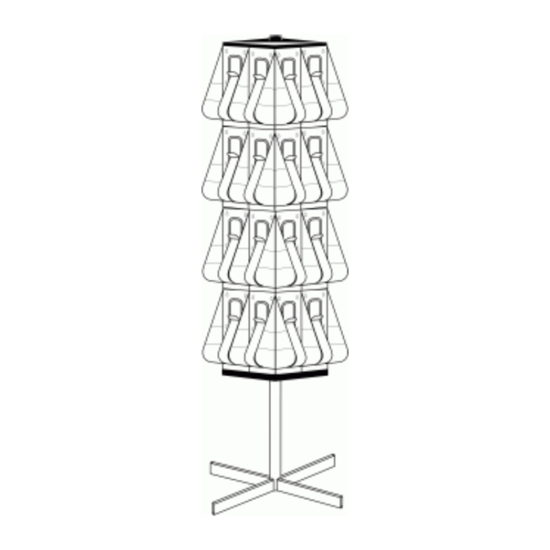 """(58051) """"Stand-Tall"""" Literature Rack, 32 x DLE, Free-standing, Rotating image 0"""