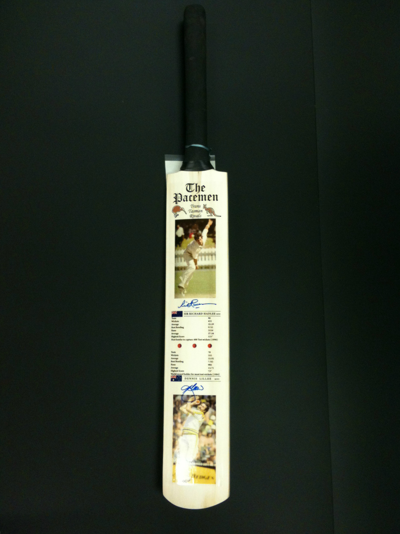 The Pacemen - Signed Cricket Bat image 4
