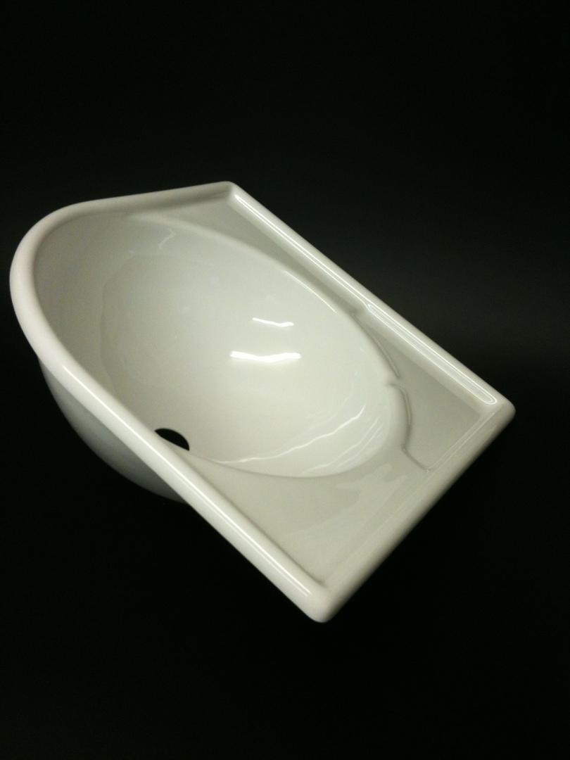 Caravan Large Corner Sink White Acrylic image 0