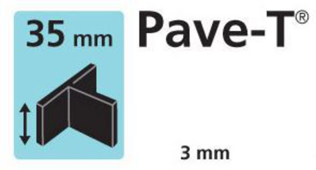 Paver spacer T shape 35mm x3mm thick image 0