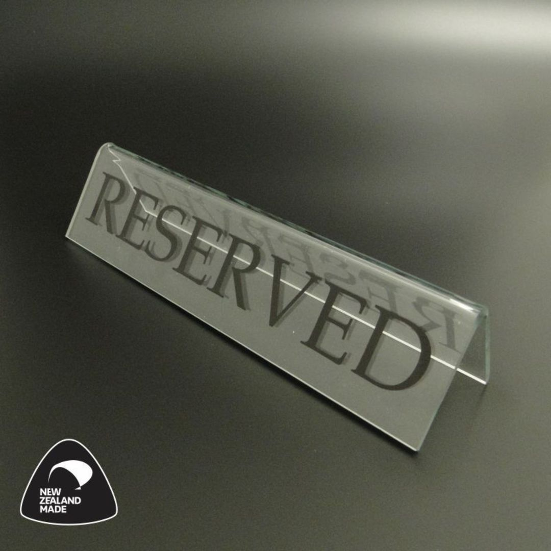 Large Clear RESERVED Table Sign image 0