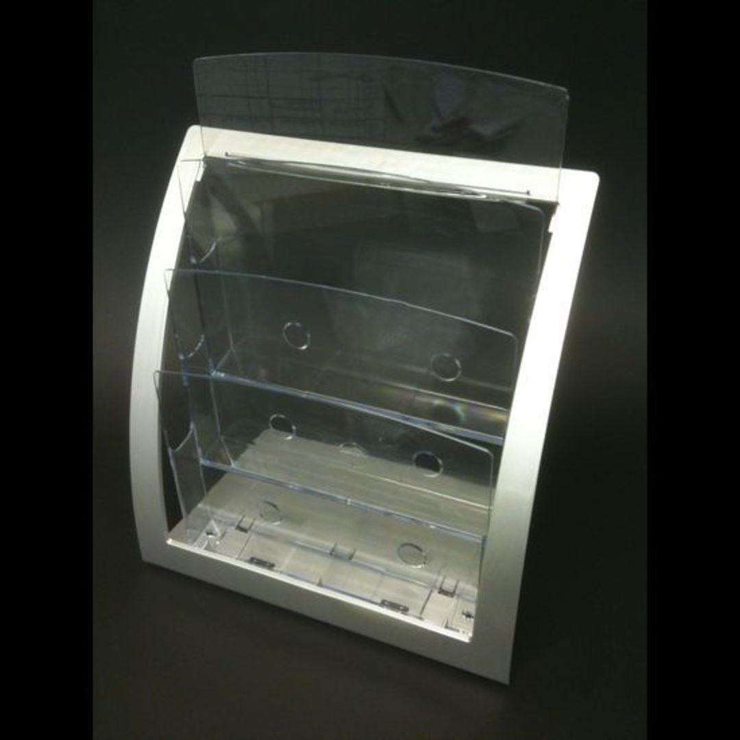A4 3-Tier Silver Frame Desk Brochure image 0